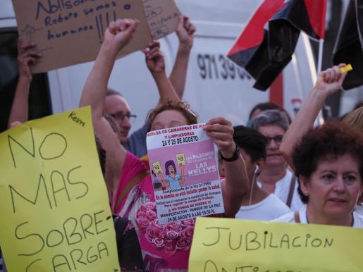 Imagen de archivo de una huelga de las camareras de piso.