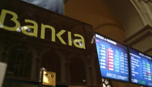 Monitores informativos en la bolsa de Madrid.