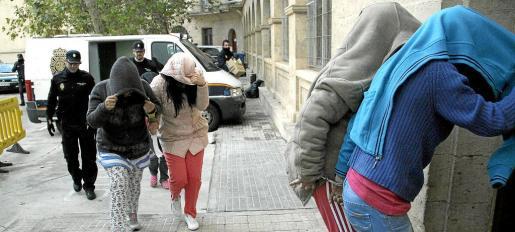 PALMA. SUCESOS. EL CNP PONE A DISPOSICIÓN JUDICIAL A MAS DE UNA VEINTENA DE CLAVELERAS. FOTOS: ALEJANDRO SEPÚLVEDA