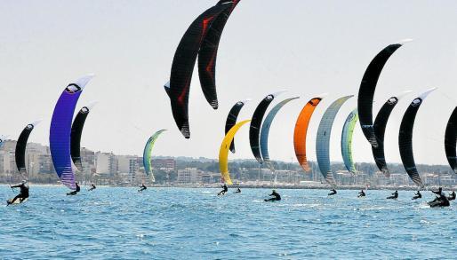 El viento acompañó la competición durante todas las pruebas.