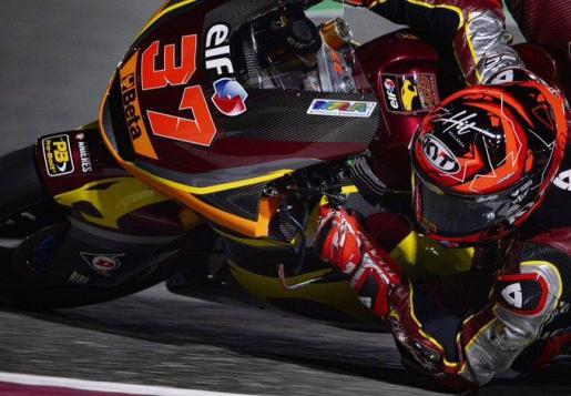 Imagen de Augusto Fernández durante el GP de Doha.