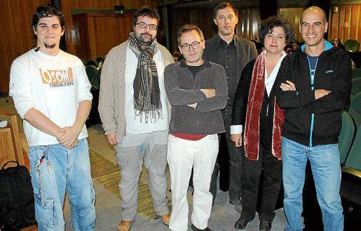 Renato Roldán, Tomeu Morey, Pere Joan, Gabi Beltrán, Sonia Delgado y Pau.