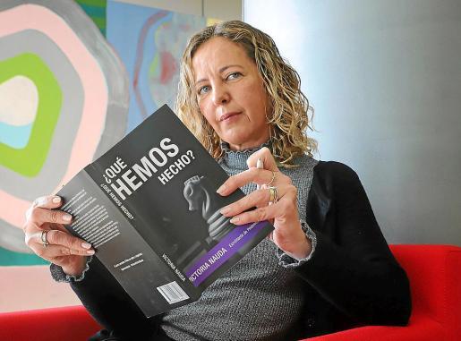 Nauda , en febrero, con la primera versión del libro que ahora edita Planeta.
