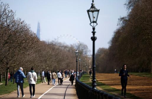 Vista de Hyde Park, en Londres, este domingo.