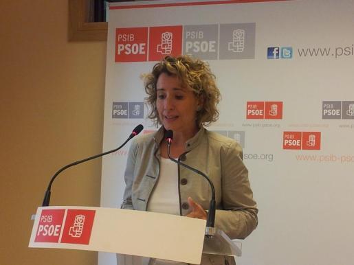 Aina Calvo, durante una comparecencia reciente.