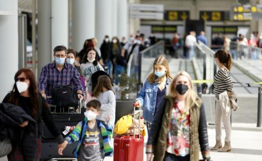Imagen del aeropuerto de Palma en Semana Santa.