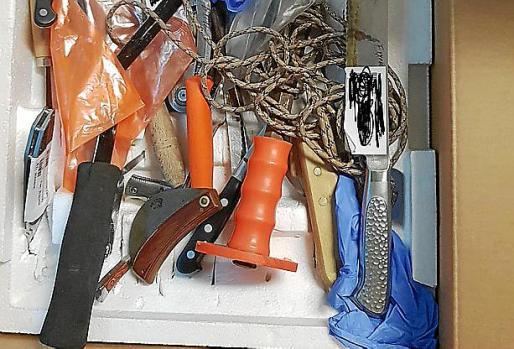 Armas incautadas el último año en Son Espases.