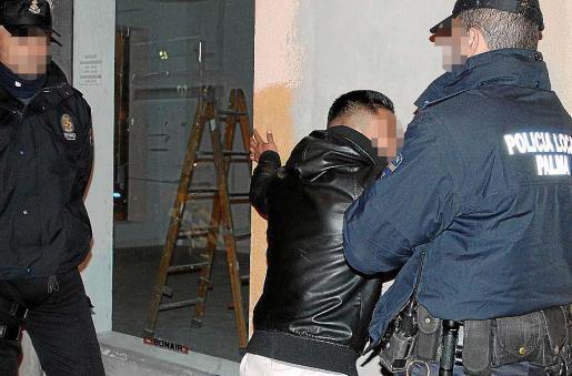 Imagen del joven detenido en la calle Caro de Palma.