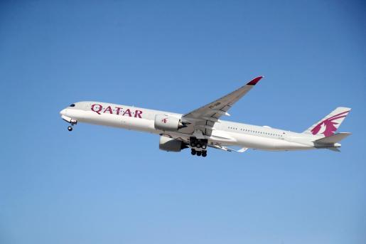 Imagen de un avión de Qatar Airways.