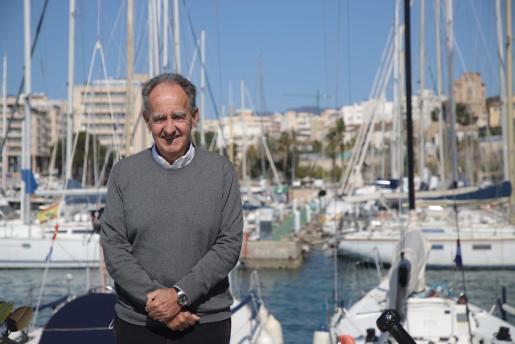 Javier Sanz, presidente de la Real Federación Española de Vela.      FOTO:PERE BOTA