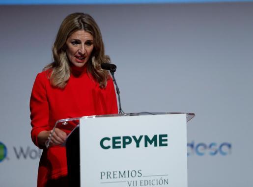 La vicepresidenta tercera y ministra de Trabajo y Economía Social, Yolanda Díaz.
