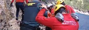 Herido un hombre de 80 años que cayó de un acantilado en Cala Murta