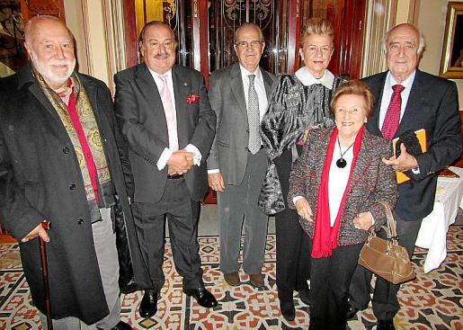 Jaume Ensenyat, José Mª García Ruiz, Fernando Rotger, Rosa María Regi, María I. Morell y Rafael Perera.