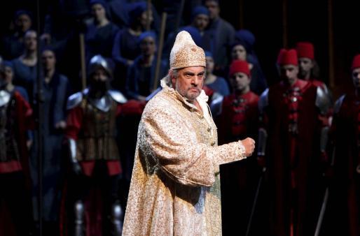 "Imagen de Plácido Domingo durante un ensayo de la ópera de Giuseppe Verdi ""Simon Boccanegra"" en Milán."