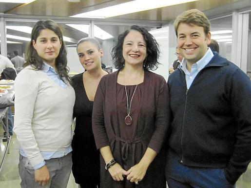 Elianne Escarafille, Sonia Sard, Irene Llull y Josemi Palou.