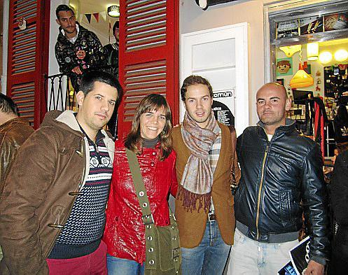 Antonio González, Marga Pou, Marcos Suárez y Daniel Expósito.
