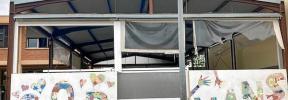 Familias del CEIP Robines de Binissalem denuncian que el consistorio tiene el pabellón abandonado