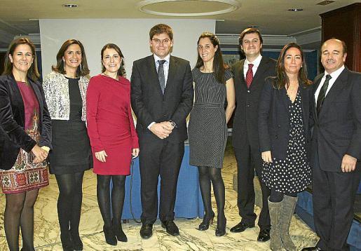 María José Bauzá, Mercedes de Miguel, María Antonia Febrer, Martí Sansaloni, María García, Tomás Muret, Pituca Buades y Juan Vicens.