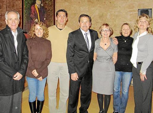 Joan Torres, Eugénia Vila, Rafael Oliva, Toni Oliver, Maria Concepción Cortés, Maria José Mayol y Caty Oliver
