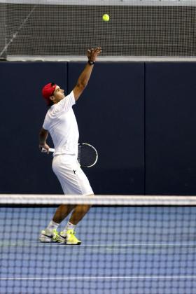 El tenista Rafa Nadal, en su primer entrenamiento el pasado mes de noviembre, después de estar alejado de las pistas varios meses por una lesión.
