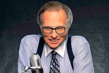 Larry King, famoso presentador de la CNN.