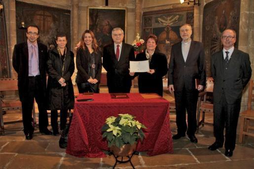 Juan Manuel Gómez, Carmen Serra, Carmen Lliteras, Héctor Matallana, Ana Villena, Lluc Riera y Juan González de Chaves.