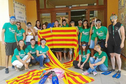 Una de las múltiples protestas realizadas a favor del catalán en el sector de la enseñanza, en concreto en C.P. Ses Comes.