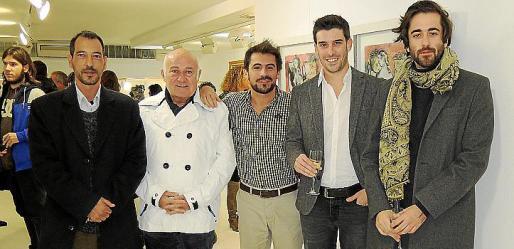 Ricard Chiang, Joan Riera Ferrari, Ernesto Rodríguez, Biel Perelló y Carlos Prieto.