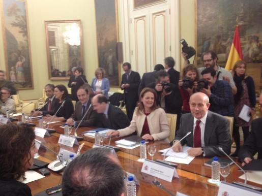 Los consejeros de Educación se han reunido esta tarde con el ministro de Educación, José Ignacio Wert, en Madrid.