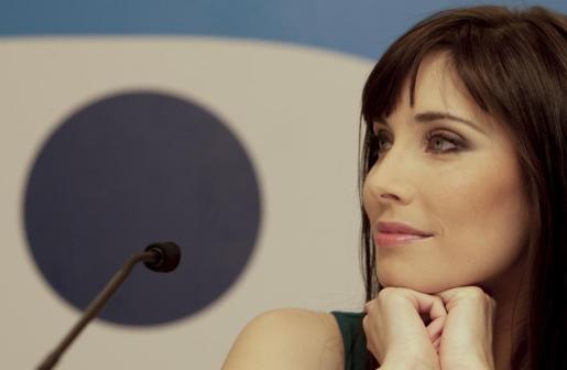 Pilar Rubio, durante su presentación tras ser fichada por Telecinco.