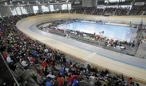 Aspecto que presentaba el Palma Arena la temporada pasada con motivo de la visita del Barcelona.