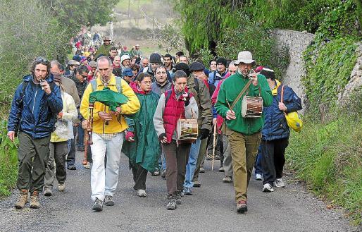 Durante varios años se realizaron marchas en defensa del camino público de es Fangar.