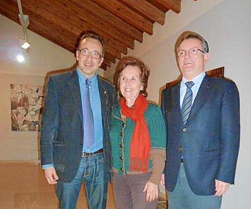 Juan Manuel Gómez, Juana María Román y Joan Rotger.