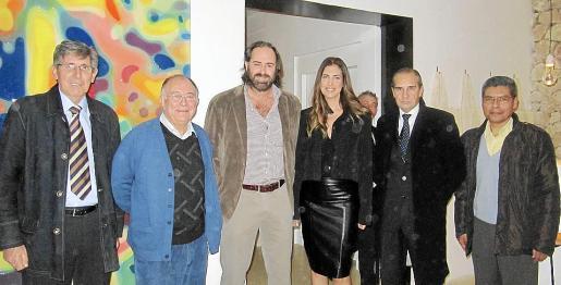Sebastià Pou, Tomeu Català, Toni Horrach, Antonia Maria Horrach, Guillermo Adrover y Lino Salas.