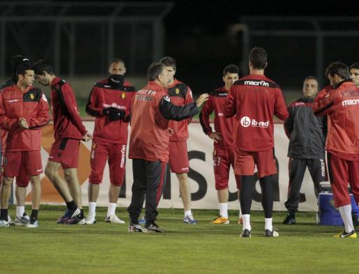 Imagen de uno de los entrenamientos del Mallorca.