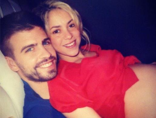 Piqué y Shakira, en una tierna imagen.
