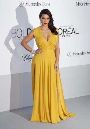 """La personalidad estadounidense Kim Kardashian en la gala benéfica de la organización estadounidense """"amfAR"""" el pasado 25 de mayo."""