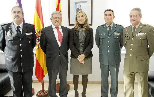 Antonio Jarabo, Javier López-Cerón, Teresa Palmer, Basilio Sánchez y Francisco Riva.