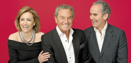 Sonia Castelo, Arturo Fernández y Carlos Manuel Díaz, protagonistas del reparto de 'Los hombres no mienten'.