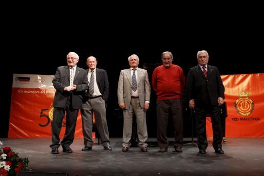 De izquierda a derecha, Forteza, Bolao, Oviedo,Arqué y Mir.