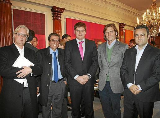 Gabriel Uguet, Julio Rubio, Martí Sansaloni, Pedro Llambías y Juan Santamaría.