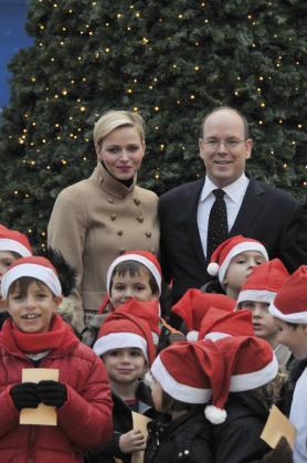 Alberto y Charlene, esta Navidad en Mónaco.