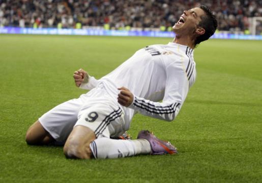 Cristiano Ronaldo celebra el gol metido contra el Valencia.