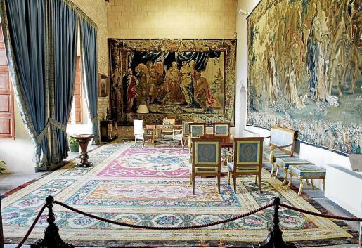 El despacho del Rey, en el que don Juan Carlos recibe algunas audiencias en verano.