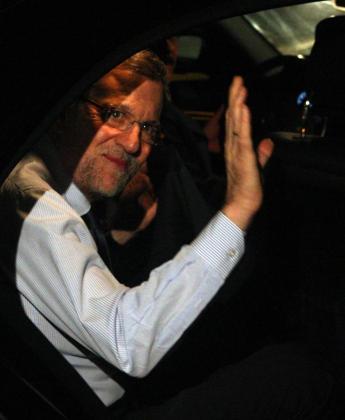 Fotografía cedida por Andina del presidente del Gobierno español, Mariano Rajoy, ayer en Lima.
