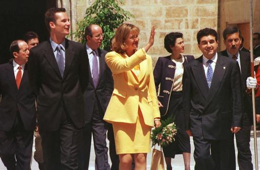 Los duques de Palma, de visita oficial en Mallorca en 1998.