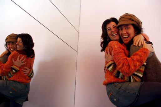 Adriana Aguilar y Malu Morro, ayer en Palma.