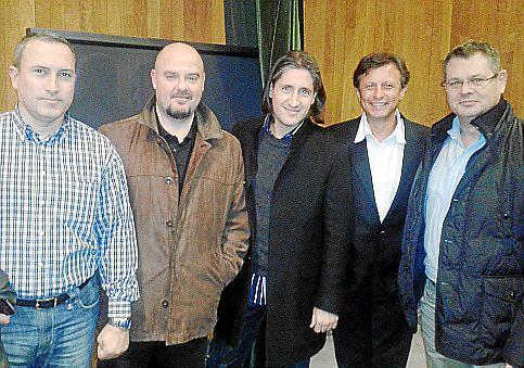 Miguel Gelabert, Guillermo Llofriu, David Escribano, Salvador Luque y Toni Mas.