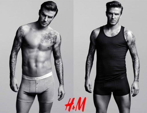 David Beckham, en una de las campañas que ha realizado para H&M.