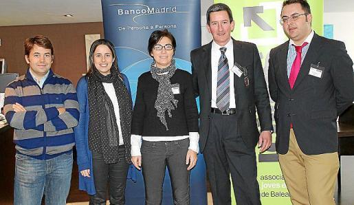 Josemi Palou, Marilén Mas, Martina Ramis, Jaime Cáceres y Juan Carlos Enrique.